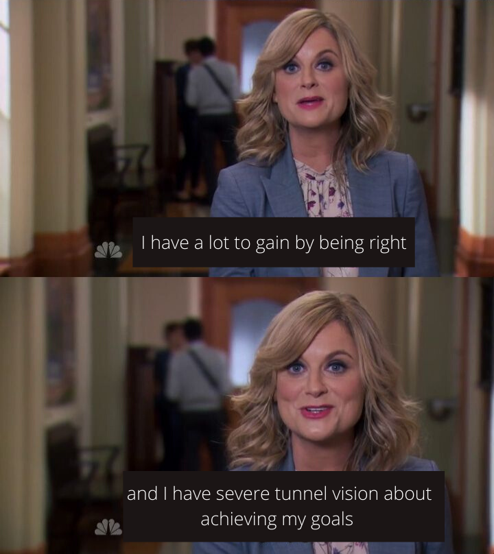 Leslie Knope from the TV show Parks and Recreation with the text: