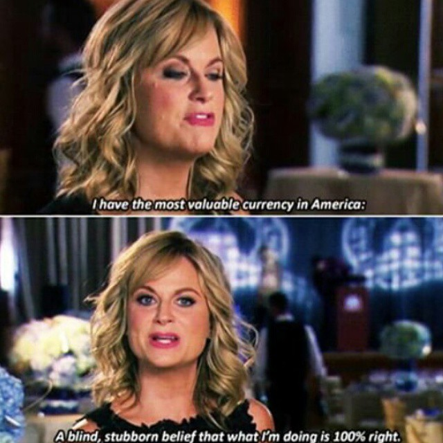 Leslie Knope saying,