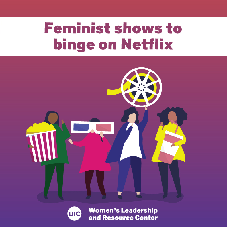 Illustrations of people with oversized movie paraphernalia (popcorn bucket, 3D glasses, film reel, and soda cup) and the words