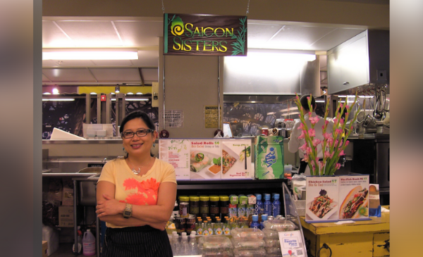 Owner Mary Nguyen Aragoni stands at the French Market location of Saigon Sisters