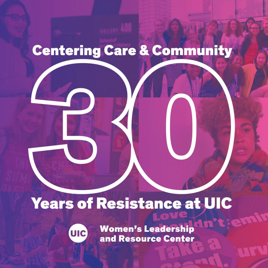 People at various WLRC events, with a magenta color wash over the images. White text on top reads